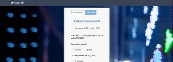Регистрация участника на Специальном информационном портале